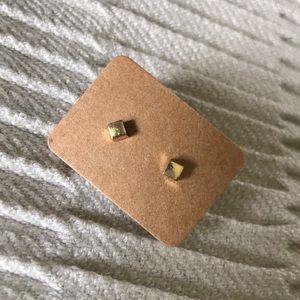 Goldtone Square Earrings